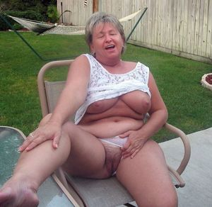 Smiley mature housewife..