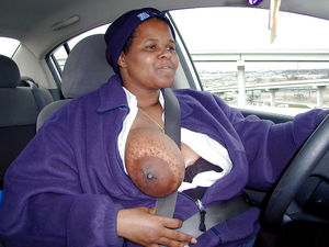 Black fat woman with a..