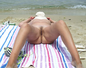 Wife nude on the beach..