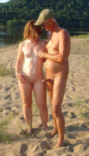 Mature naturist on the..