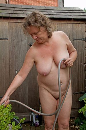 Gross naked aged woman..