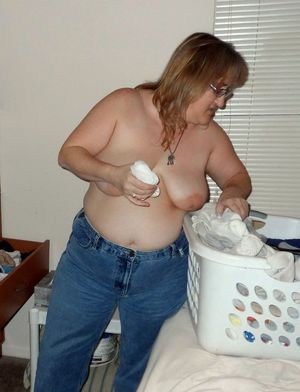 Chubby mature wife is..