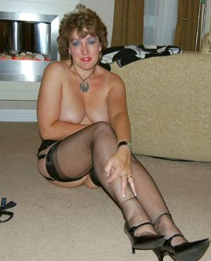 Housewife posing in..